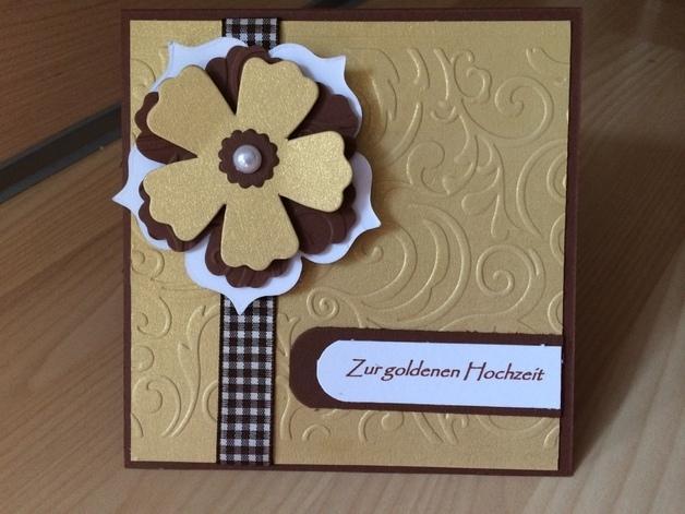 gl ckwunschkarte goldene hochzeit sandra 39 s kartenzauber. Black Bedroom Furniture Sets. Home Design Ideas