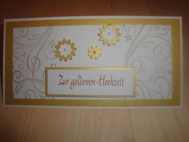 Glückwunschkarte Goldene Hochzeit